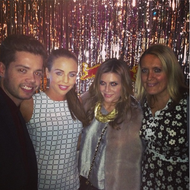 Lydia Bright and Zoe Hardman attend the Storm Models Agency Party in London - 17 February 2014