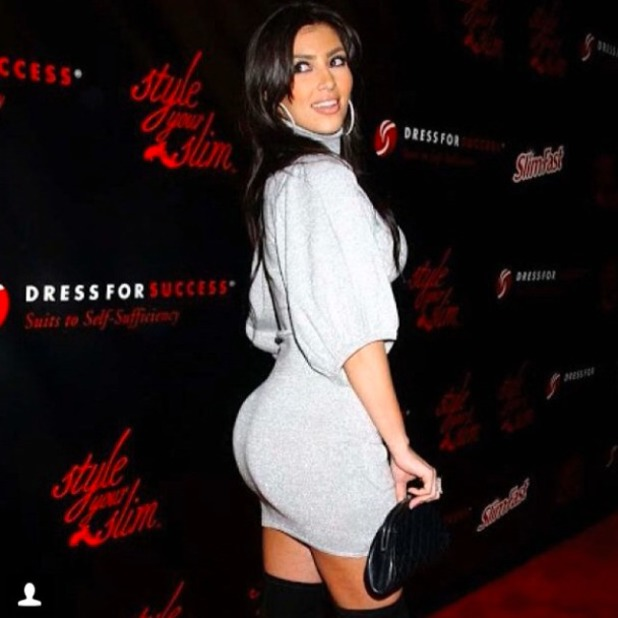 Kim Kardashian posts picture of herself looking bootylicious for Flashback Friday, 21 February 2014