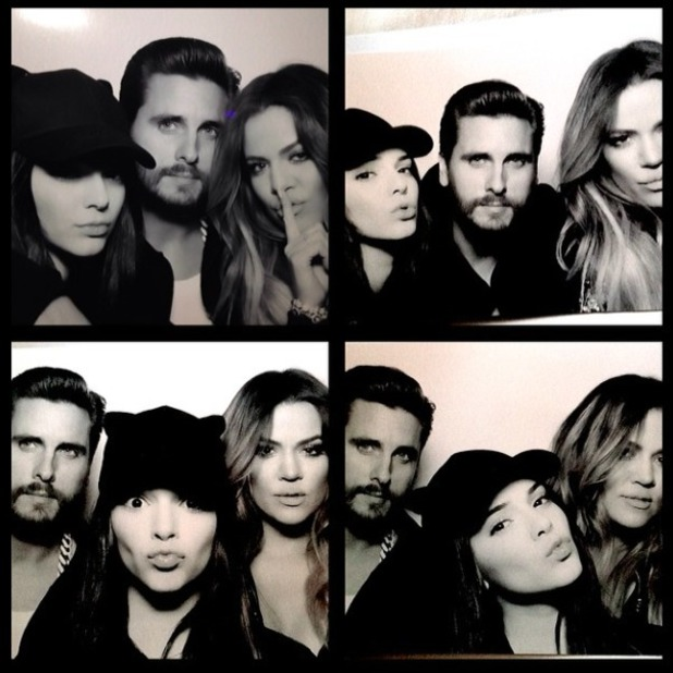 Khloe Kardashian shares picture of herself with Kendall Jenner and Scott Disick, 22 February 2014