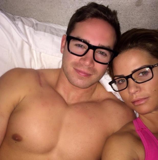 Katie Price and Kieran Hayler wear glasses in bed - 16 Feb 2014