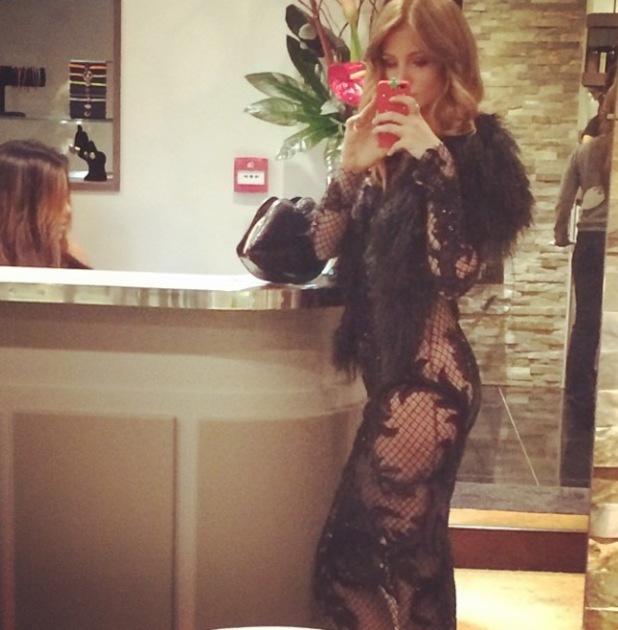 Julien Macdonald show, Autumn Winter 2014, London Fashion Week, Britain - 15 Feb 2014 Millie Mackintosh