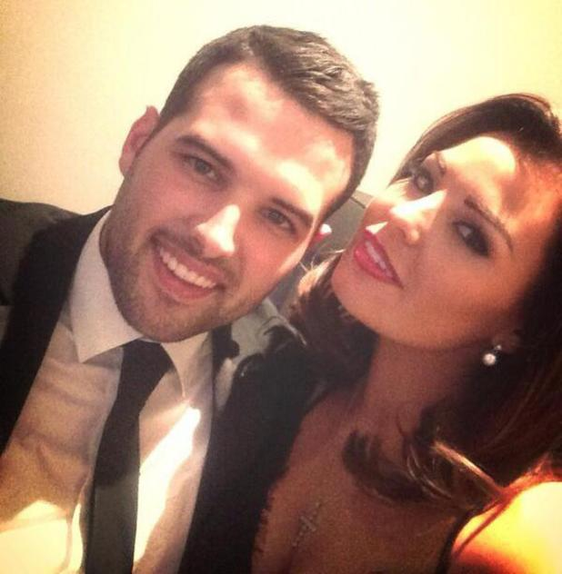 TOWIE's Jessica Wright and Ricky Rayment at Mario Falcone's birthday party. (15 February).