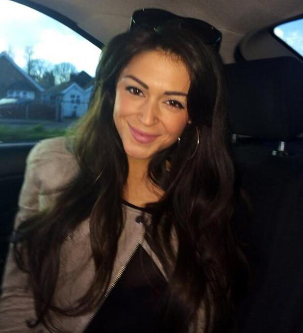 Casey Batchelor travels to Pinewood Studios for TV show filming - 21 Feb 2014