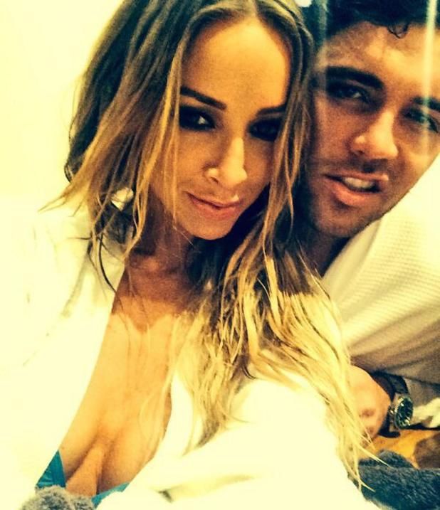 TOWIE's Tom Pearce and Lauren Pope film jacuzzi scenes for series 11 (15 February 2014).