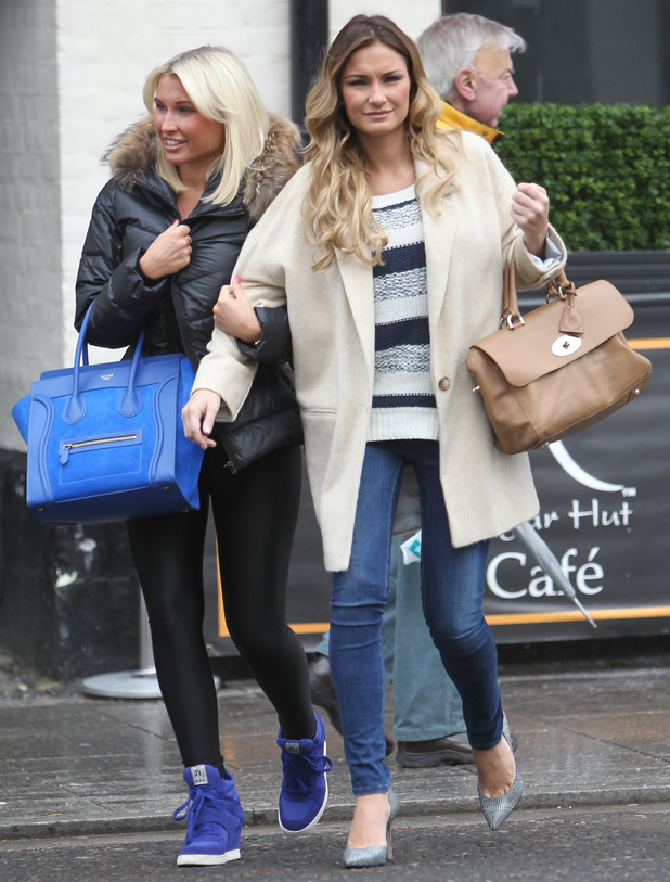 Sam and Billie Faiers arrive at Sugar Hut in Brentwood, Essex to start filming for the new series of The Only Way Is Essex, 12 February 2014