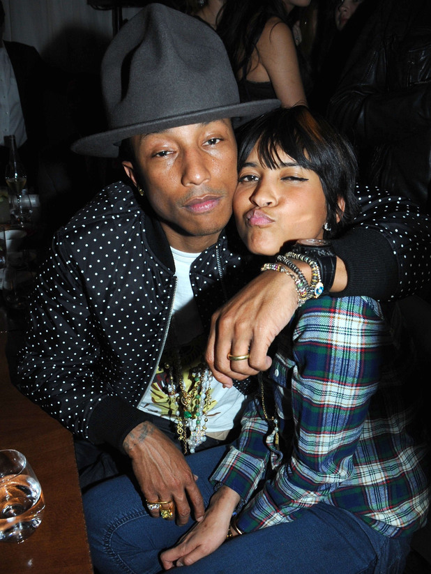 The BRIT Awards 2014 Sony Music After Party, London, Britain - 19 Feb 2014 Pharrell Williams and Helen Lasichanh