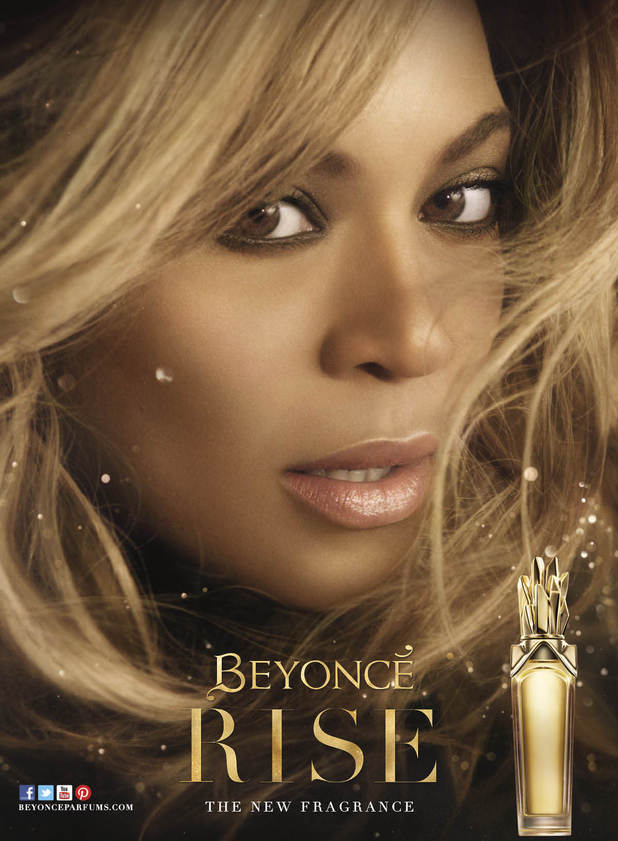 Beyoncé's promotional picture for her new fragrance RISE - February 2014