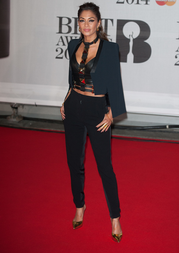 Nicole Scherzinger at the Brit Awards 2014, 19 February 2014