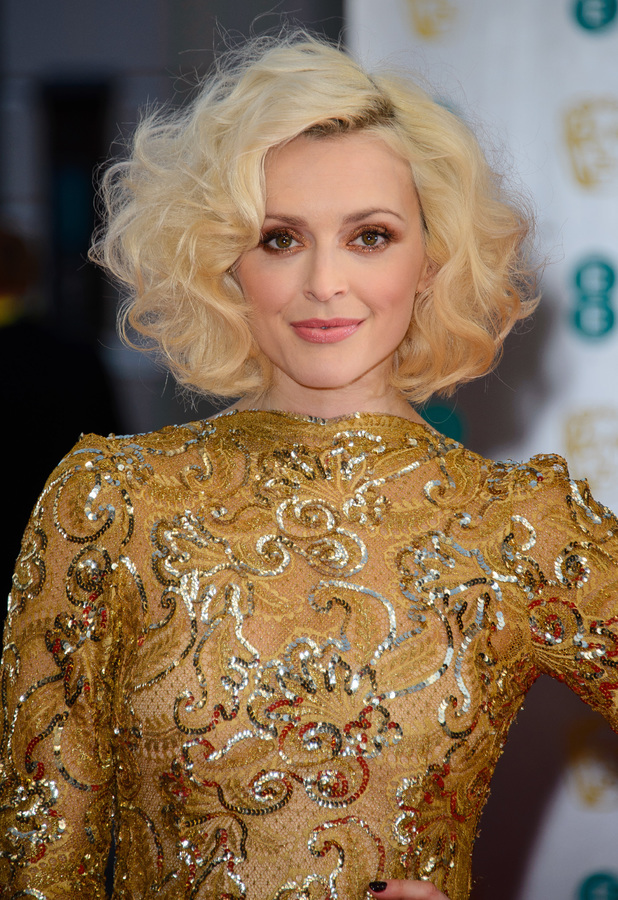 Fearne Cotton at the BAFTAs 2014 held at the Royal Opera House in London - 16 February 2014