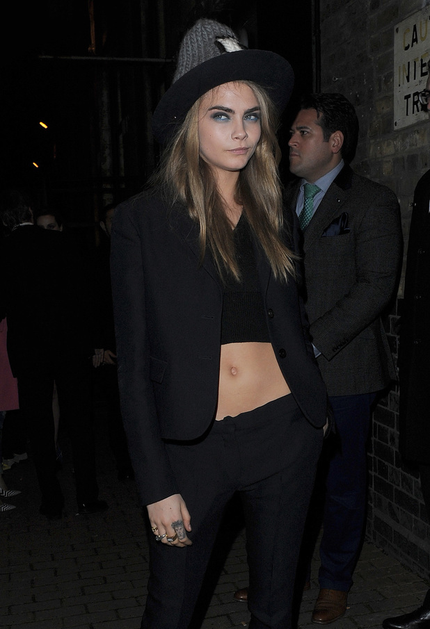 Cara Delevingne at Giles for LFW
