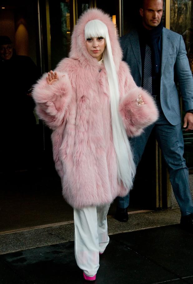 'The Tonight Show with Jimmy Fallon' TV Programme, New York, America - 18 Feb 2014 Lady Gaga