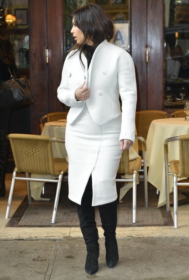 Kim Kardashian out and about, New York, America - 18 Feb 2014