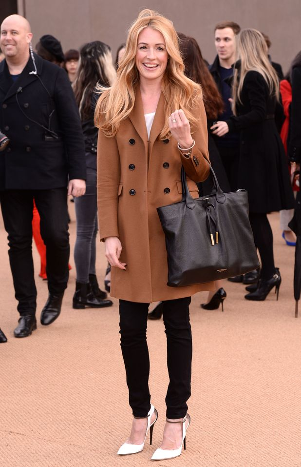 Cat Deeley attends the Burberry Prorsum autumn/winter 2014 show at London Fashion Week - 17 February 2014