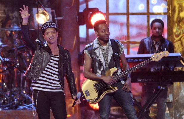 Bruno Mars, The Brit Awards, Show, O2 Arena, London, Britain - 19 Feb 2014