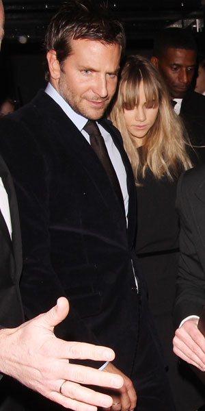 Bradley Cooper and Suki Waterhouse leaving the Tom Ford show at London Fashion Week, 17 February 2014