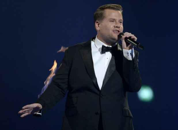 James Corden, The Brit Awards, Show, O2 Arena, London, Britain - 19 Feb 2014