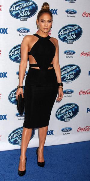 Jennifer Lopez at American Idol party on 20 February 2014