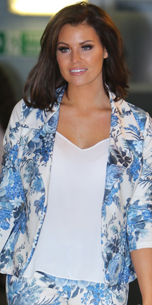 Jessica Wright outside ITV's This Morning, London, 21 February 2014