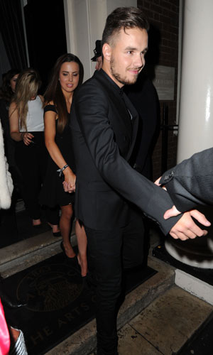 Liam Payne and girlfriend Sophia leaving BRIT Awards 2014 Sony Music After Party, London, Britain - 19 Feb 2014