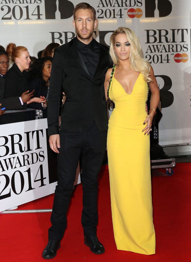 Rita Ora and Calvin Harris at the Brit Awards 2014, 19 February 2014