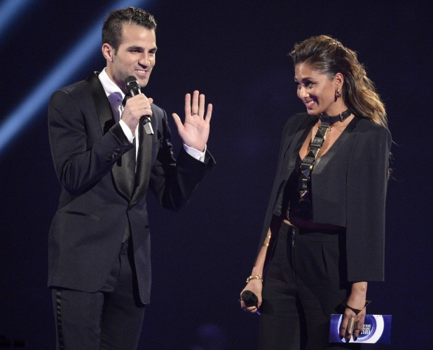 Nicole Scherzinger & Cesc Fabregas, The Brit Awards, Show, O2 Arena, London, Britain - 19 Feb 2014
