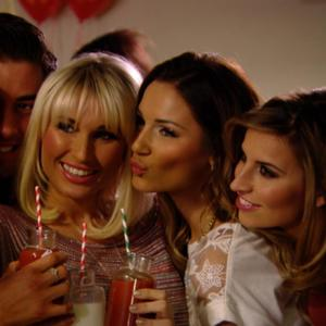 TOWIE: Billie and Sam Faiers and Ferne McCann attend 'shake' party (2 March 2014)