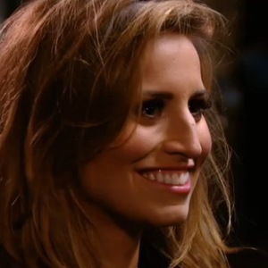 TOWIE: Ferne McCann is shocked to see the arrival of Frank Major. Aired 26 February 2014.