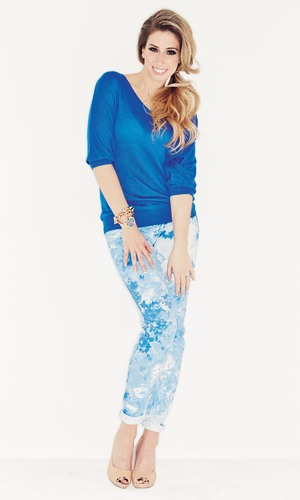 Stacey Solomon, who is the exclusive face of Lookagain.co.uk, models Jumper by Laura Scott Wednesday 26 February 2014.