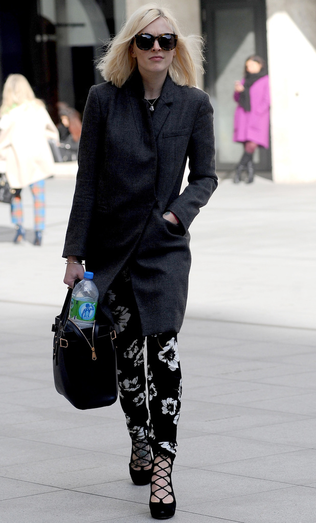 Fearne Cotton heads to work 24.2.14
