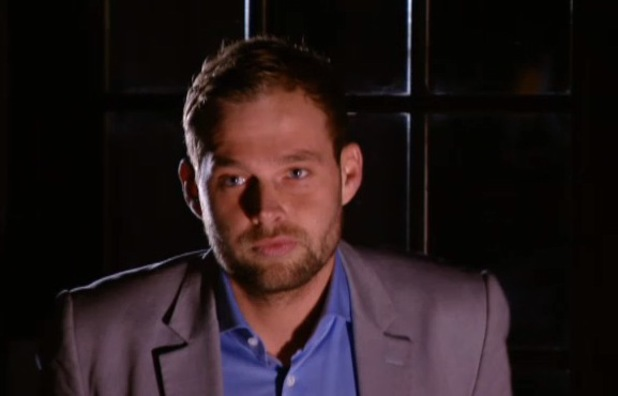TOWIE: Frank Major arrives to talk to Ferne McCann. Aired 26 February 2014.