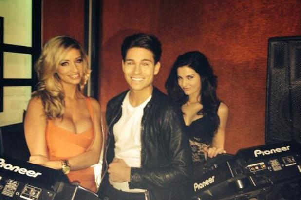 TOWIE's Joey Essex films the TV advert for his new Essex Anthems CD. (27 February 2014).