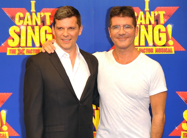 Simon Cowell, Nigel Harman at I Can't Sing! The X Factor Musical - Photocall - 9 Feb 2014