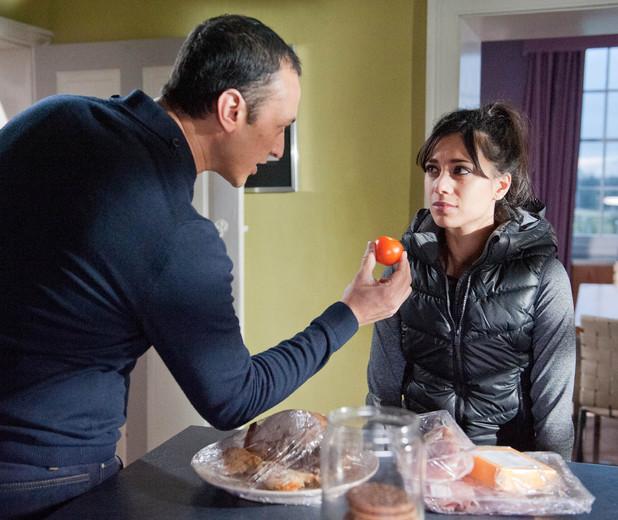 Emmerdale, Jai tries to make Priya eat, Wed 26 Feb
