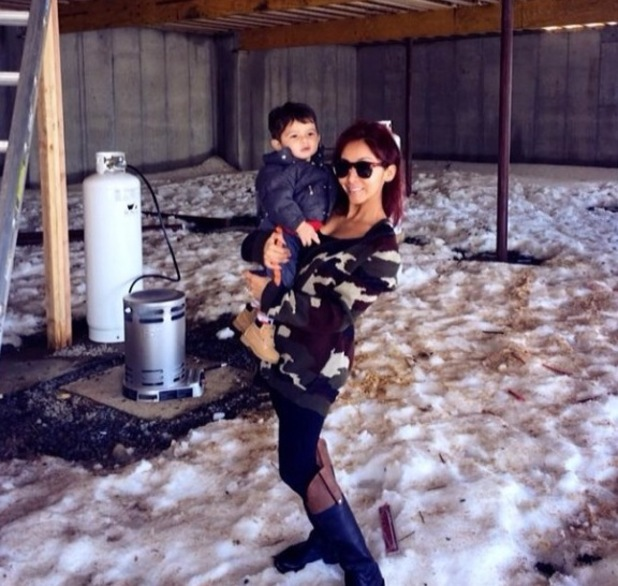 Snooki and 1-year-old son Lorenzo - February 2014