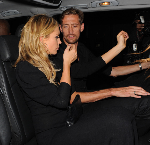 Abbey Clancy and Peter Crouch at the NME Awards 2014 Afterparty at Sketch in London. 02/26/2014