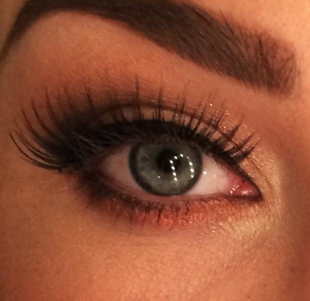 Lauren Goodger poses for make-up close-up, courtesy of Krystal Dawn, 25 February 2014