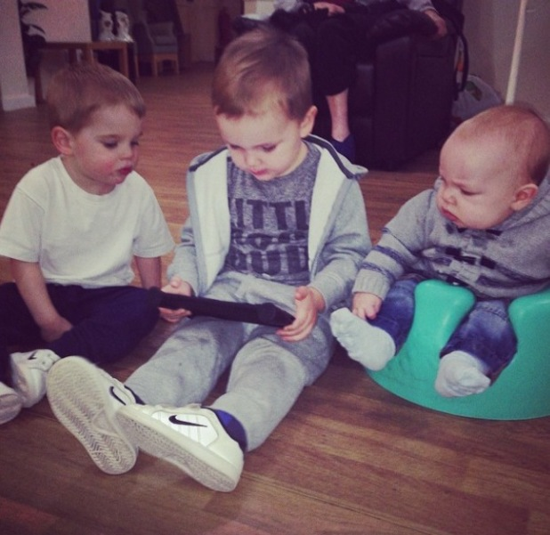 Danielle O'Hara posts photo of sons Archie, Harry and George - February 2014