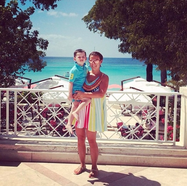 Coleen Rooney holidays in Barbados with Kai, Klay and her parents - 25 February 2014