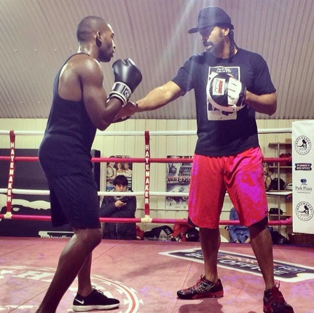 David Haye opens his Hayemaker Gym to the public with rapper Tinie Tempah one of those to receive training tips from the former World Heavyweight Champion - London, 23.2.2014