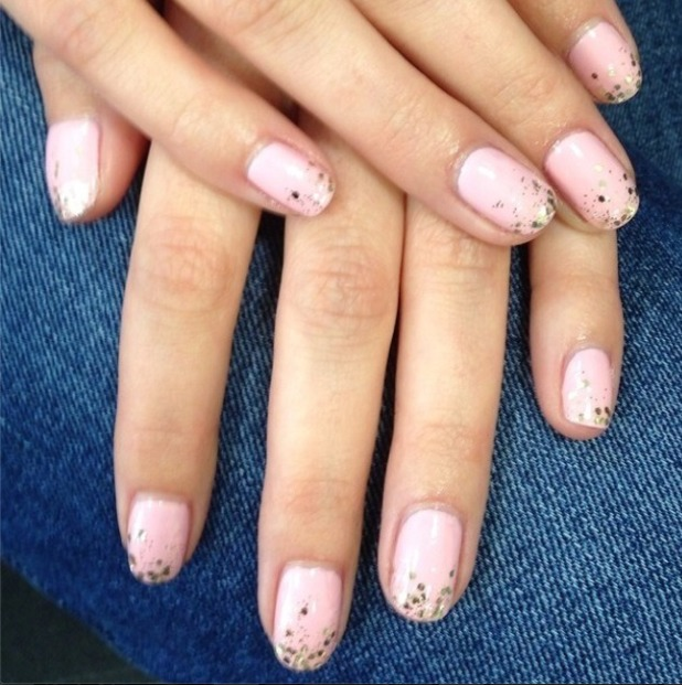 Mollie King's cinderella nails