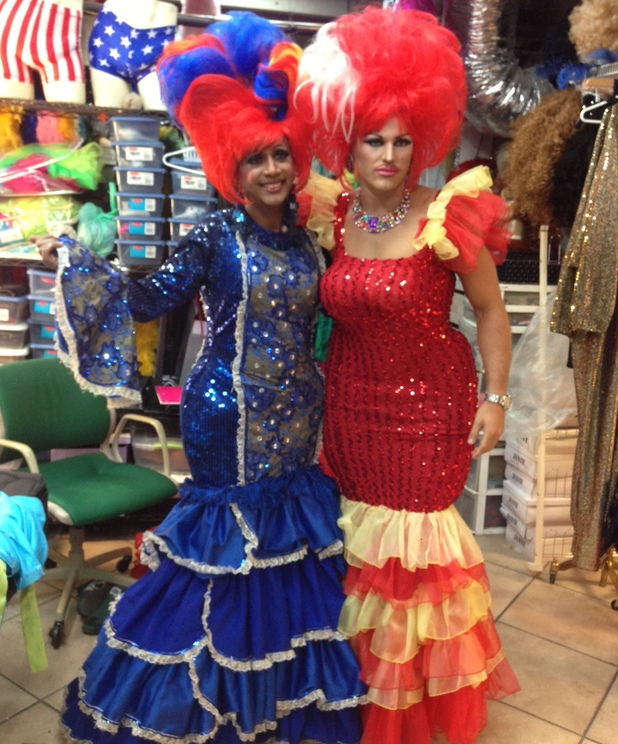 Mark Wright dresses up in drag for Party Wright Around The World - 25 Feb 2014