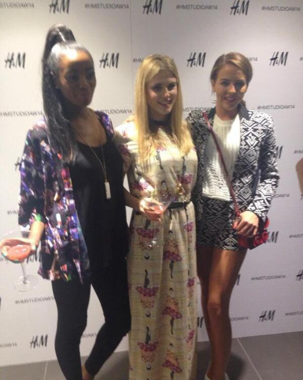 H&M host a party to screen their AW14 fashion show live from Paris, London - 26 Feb 2014 Lydia Bright