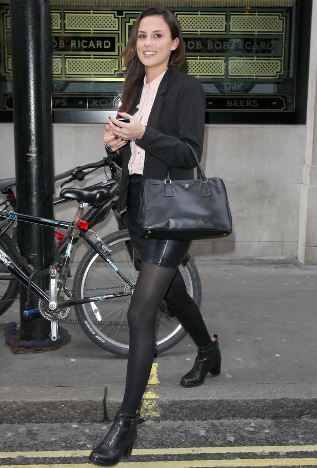Lucy Watson leaves a restaurant in Soho, London - 27 February 2014