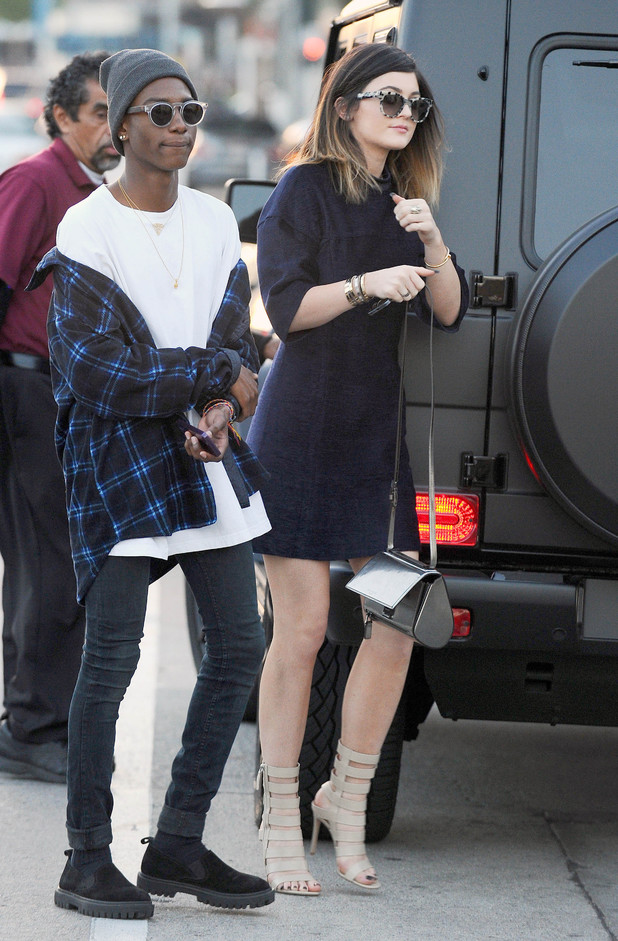 Kylie Jenner out and about in Los Angeles, America - 24 Feb 2014