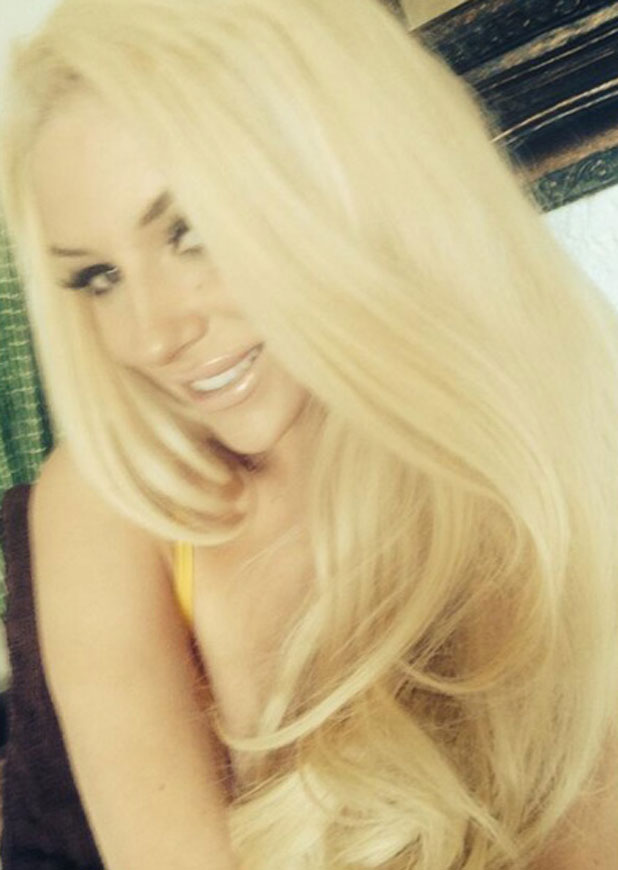 Courtney Stodden has dyed her hair blonde again after a brief period as a brunette, February 2014