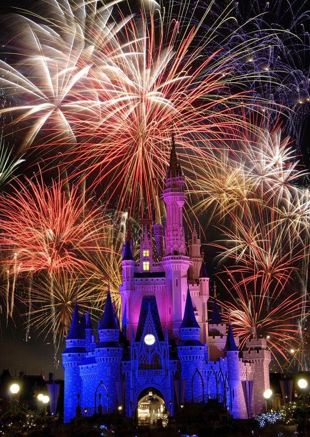 Fireworks over castle, Disney World, Orlando, Florida, USA, file photo