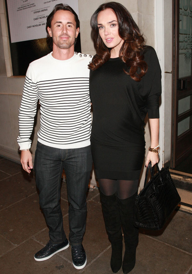 Pregnant Tamara Ecclestone and Jay Rutland arrive at the Prince of Wales Theatre to see 'The Book of Mormon', 22 February 2014