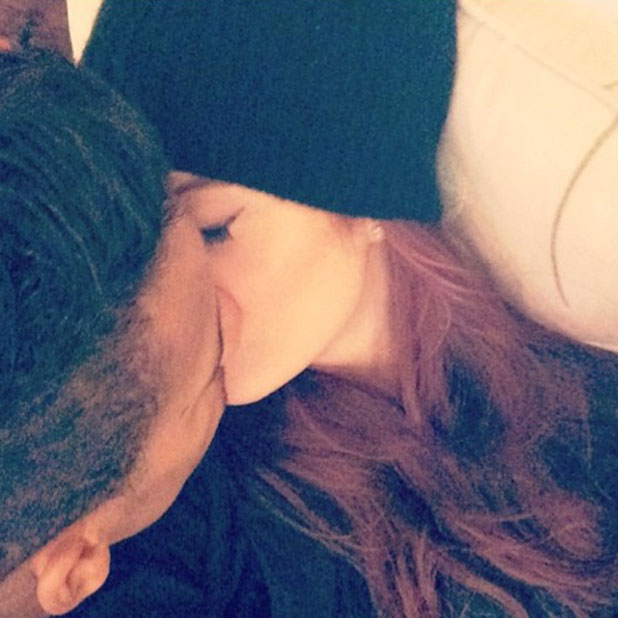 Helen Flanagan and Scott Sinclair kiss in Instagram picture, 23 February 2014