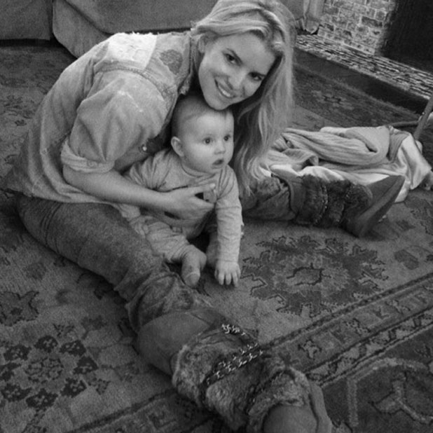 Jessica Simpson and son Ace, February 2014