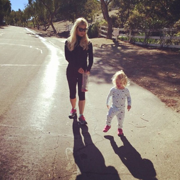 Jessica Simpson and daughter Maxwell, February 2014